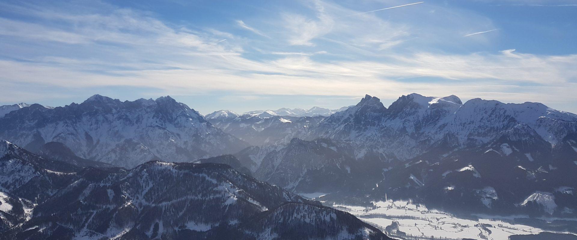 Grabnerstein Gesäuse Privatzimmer Gassner Ferienwohnungen Nationalpark Gesäuse Winter nördlich der Enns Haus Gassner Skitour